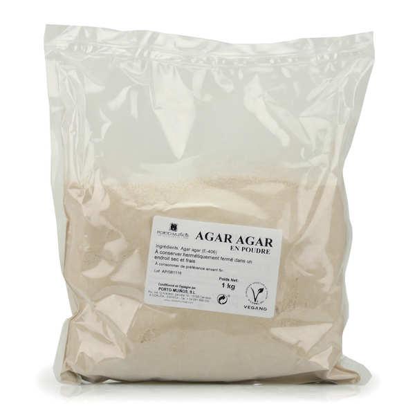 Porto Muinos Agar agar en poudre en sac de 1kg - 3 sachets de 1kg