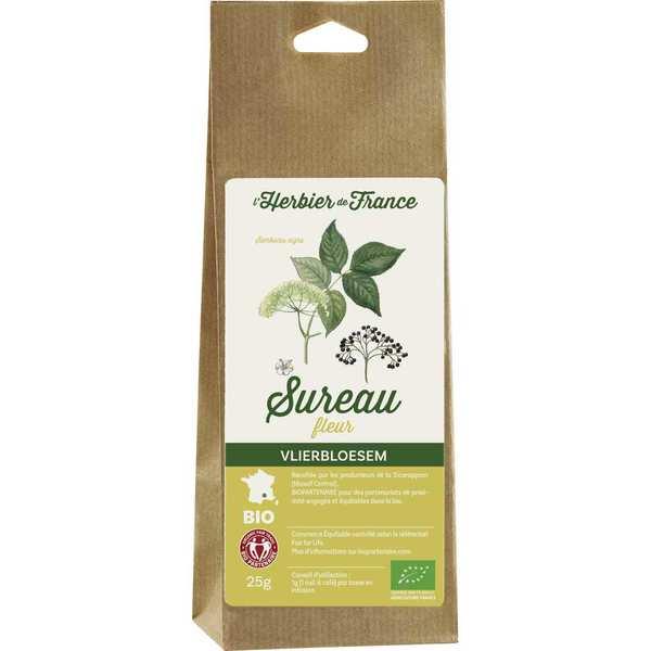 Cook - Herbier de France Infusion de fleurs de sureau bio - Lot de 4 sachets 25g