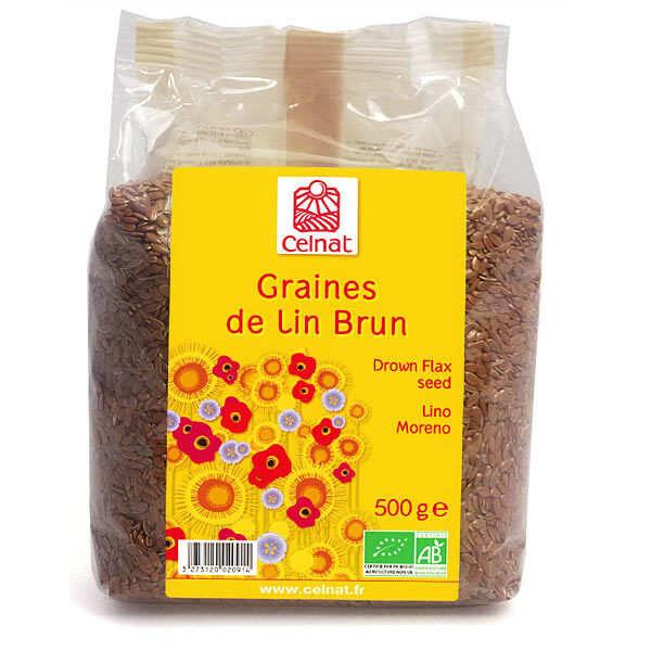 Celnat Graines de lin brun bio - Lot 4 sachets de 250g origine Kazakhstan
