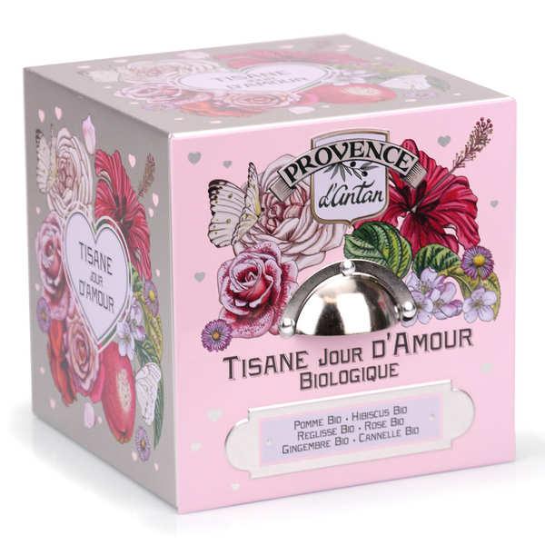 Provence d'Antan Tisane jour d'amour bio - Boite métal 24 sachets mousseline