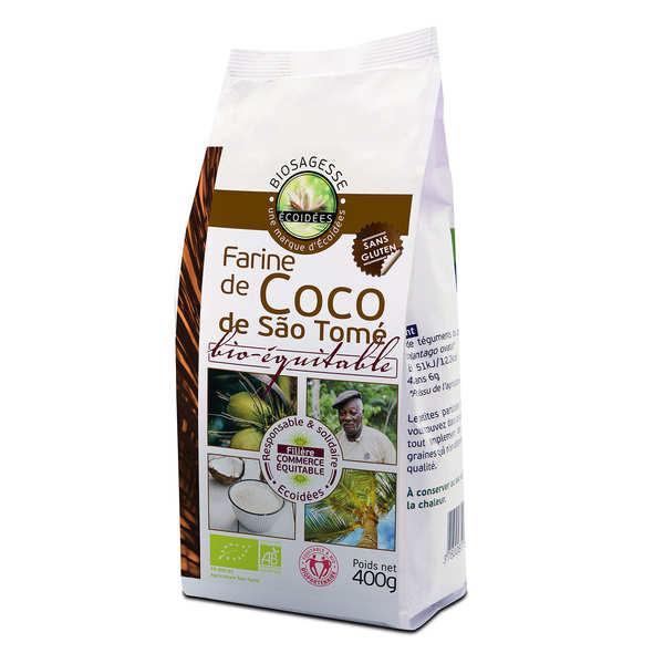 Biosagesse Farine de coco bio-équitable - Sachet 400g