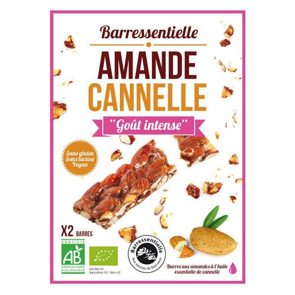 Aromandise Barre aux amandes à l'huile essentielle de cannelle bio - Etui 2 barres