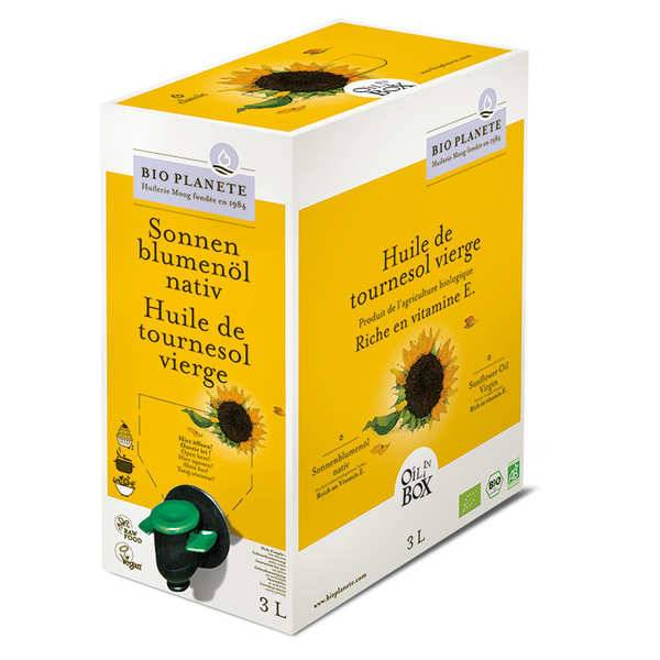 BioPlanète Huile de tournesol vierge bio en Bag in Box - Bag in Box 3L