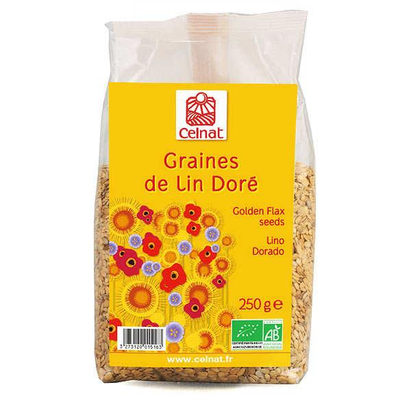 Celnat Graines de lin doré bio - Sachet 250g