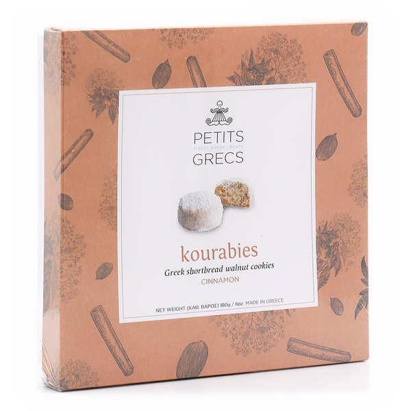 Petits Grecs Kourabiedes grecs aux noix, noix de pécan et cannelle - Boite 180g