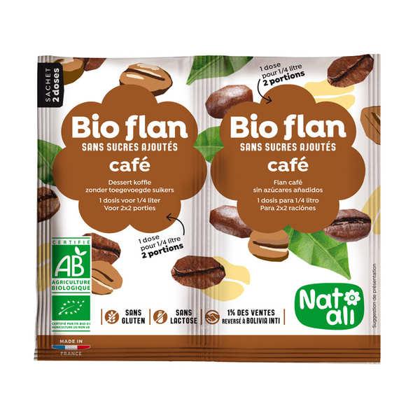 Nat-Ali Bio flan non sucré parfum café - Lot de 10 x 2 doses de 5g