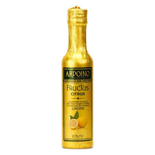 Ardoino Huile d'olive extra vierge italienne Ardoino au citron frais - Bouteille verre 25cl