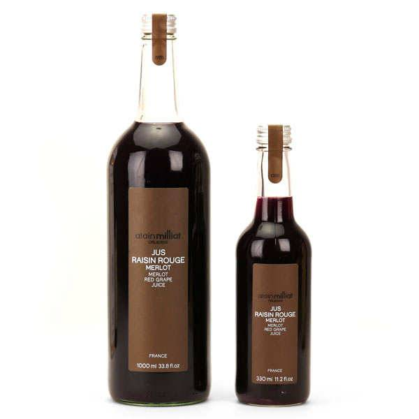 Alain Milliat Pur jus de raisin rouge Merlot - Alain Milliat - 6 bouteilles de 1L