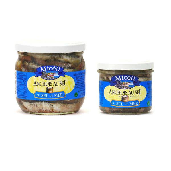 Conserverie Miceli Anchois au sel - 3 pots de 150g
