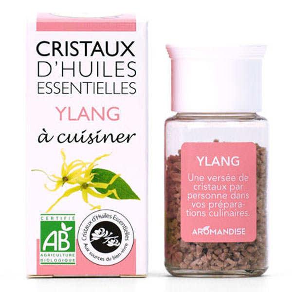 Aromandise Ylang Ylang - Cristaux d'huiles essentielles à cuisiner - Bio - Flacon 10g