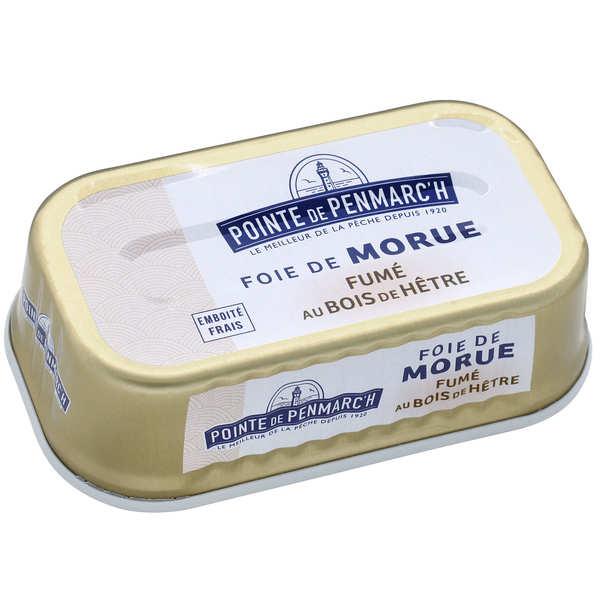La pointe de Penmarc'h Foie de morue fumé au bois de hêtre ou d'aulne - Boîte 121g