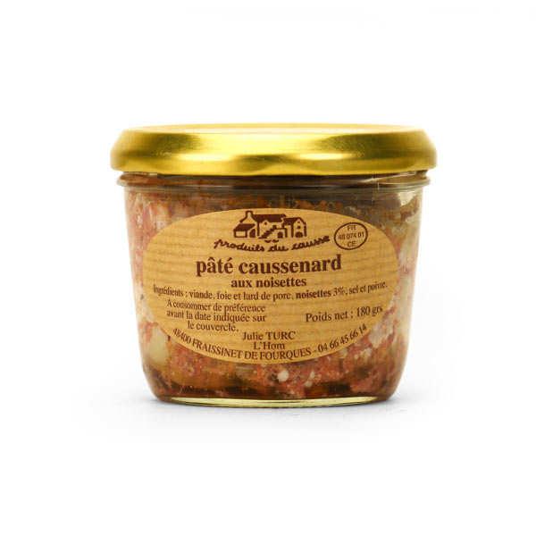 Produits du Causse Pâté caussenard aux noisettes - Pot 180g