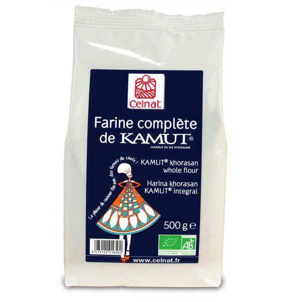 Celnat Farine complète de kamut ® bio (blé de khorasan) - Sachet 500g