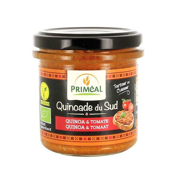 Priméal Quinoade du sud - tomate et quinoa à tartiner bio - Pot 140g