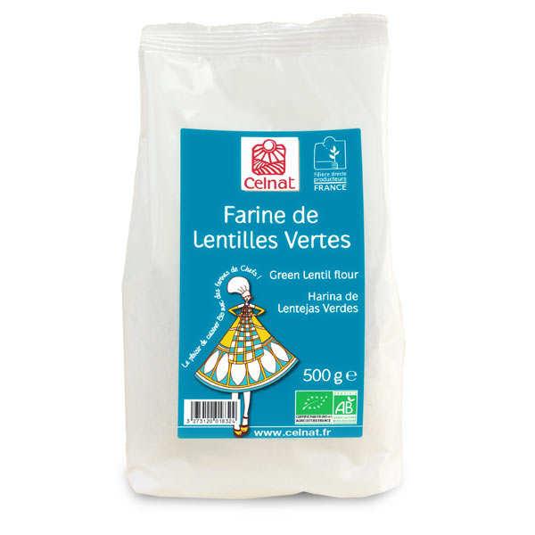 Celnat Farine de lentille verte bio - Lot 4 sachets de 500g