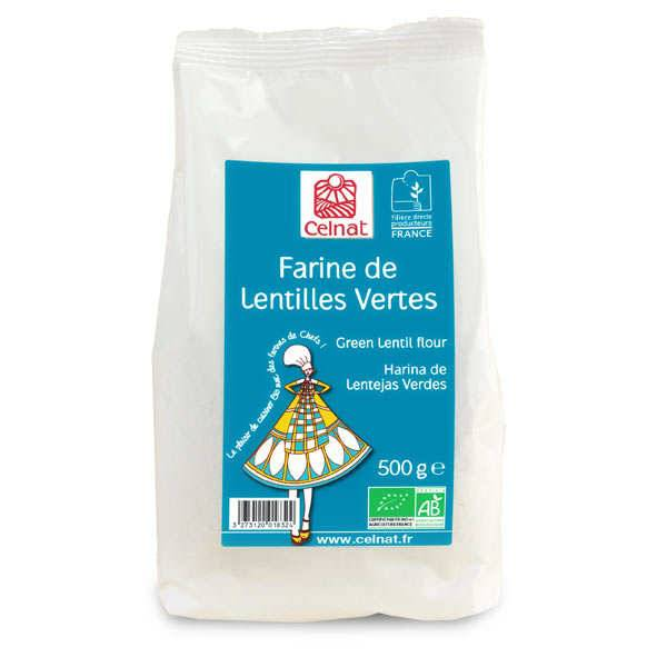 Celnat Farine de lentille verte bio - Sachet 500g