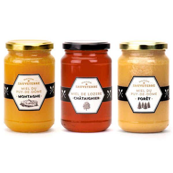 Maison Sauveterre Assortiment de miels Maison Sauveterre - Lot 3 pots de 500g