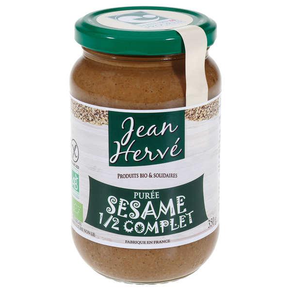 Jean Hervé Tahin - purée de sésame semi-complet bio - 3 bocaux de 350g