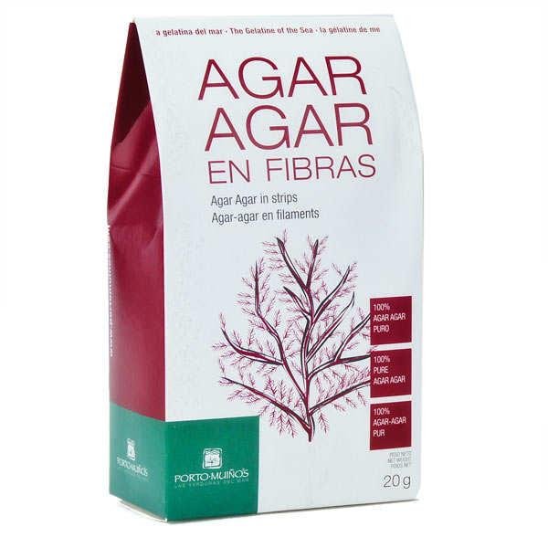 Porto Muinos Agar agar en filaments - Lot de 5 sachets 20g