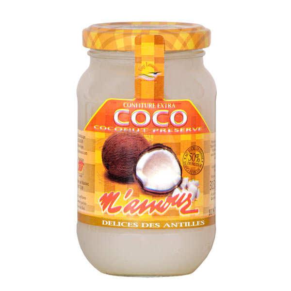 Délices M'amour Confiture de coco de Guadeloupe - Lot de 3 pots 315g