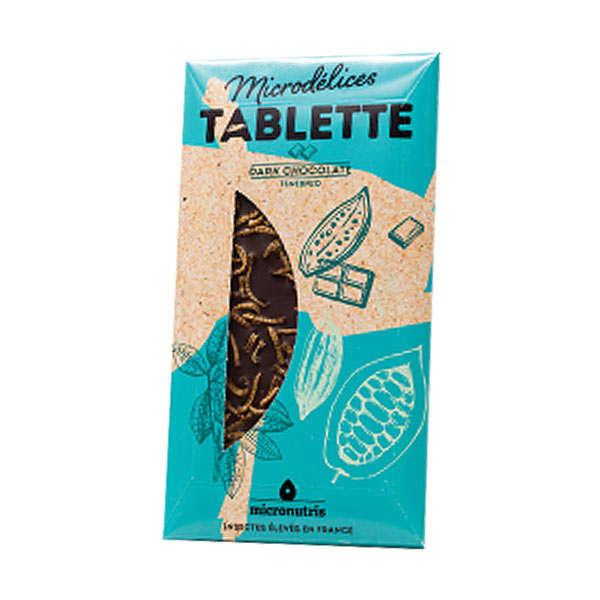 Micronutris Tablette chocolat noir ténébrions (insectes) - Tablette 70g