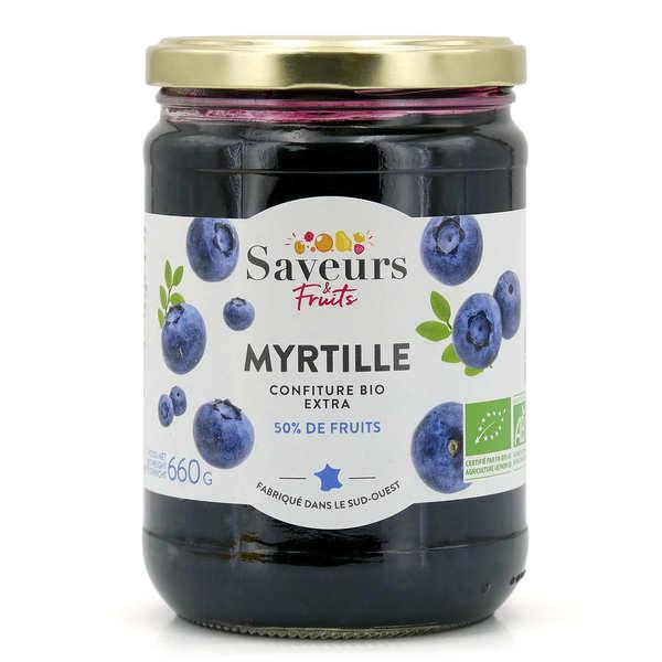 Saveurs Attitudes Confiture extra de myrtille bio - Pot 600g