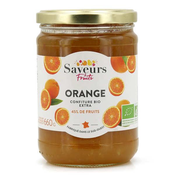 Saveurs Attitudes Confiture extra d'orange bio - Lot de 6 pots 600g