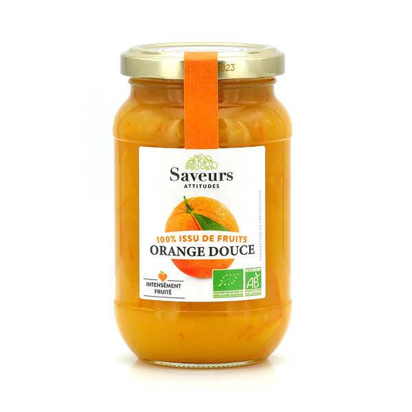 Saveurs Attitudes Confiture d'orange douce bio sans sucre ajouté - Pot 310g