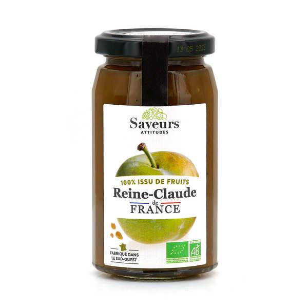 Saveurs et Fruits Confiture de reine-claude du Sud-Ouest bio sans sucre ajouté - Pot 310g