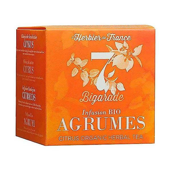 Cook - Herbier de France Infusion bio Agrumes Bigarade - Boîte 15 infusettes (22.5g)