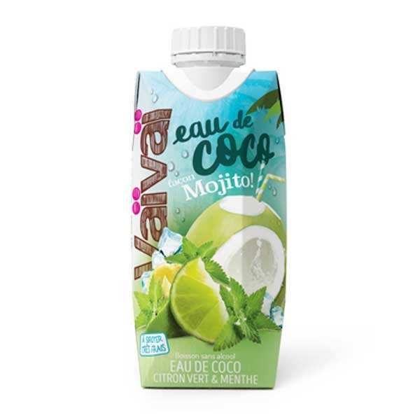 VaiVai Vaïvaï façon mojito - L'eau de coco 100% naturelle citron vert menthe - Lot 12 bouteilles 33cl
