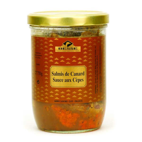 Foie gras GA BESSE Salmis de canard sauce aux cèpes - Bocal 750g