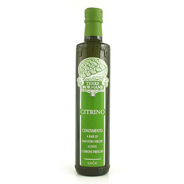 Terre Bormane Citrino - Huile d'olive vierge extra aux citrons frais - Bouteille 50cl
