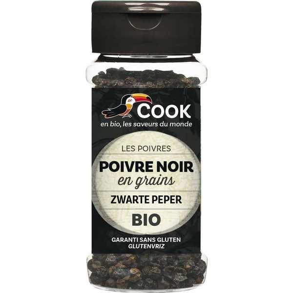 Cook - Herbier de France Poivre noir en grains bio - Flacon50g
