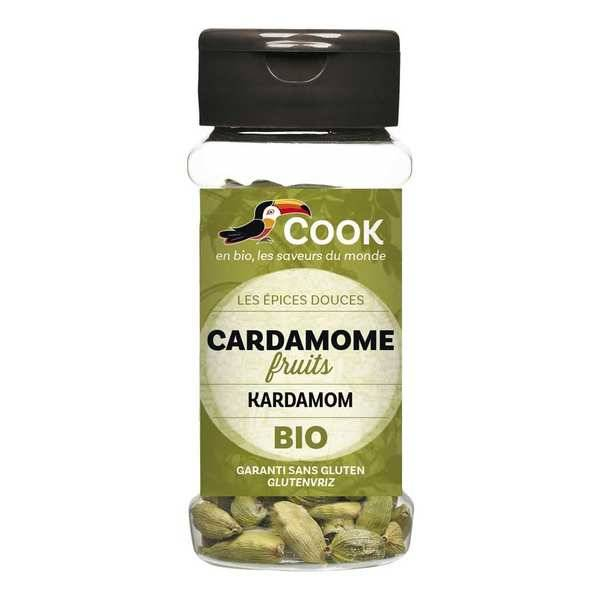 Cook - Herbier de France Cardamome verte en gousses bio - Flacon25g