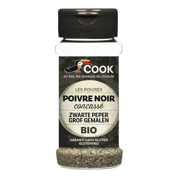 Cook - Herbier de France Poivre noir concassé bio - Flacon50g