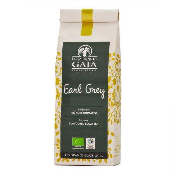 Les Jardins de Gaïa Thé noir earl grey bergamote bio - Sachet 100g