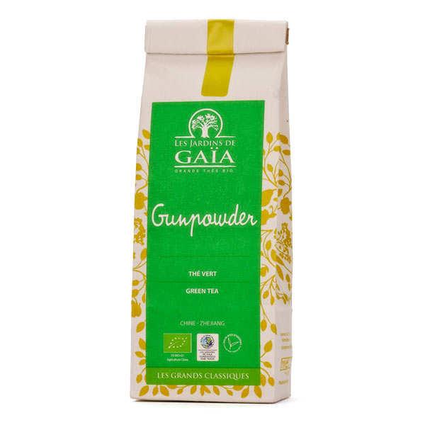Les Jardins de Gaïa Thé vert de Chine gunpowder bio - Lot de 3 sachets de 100g