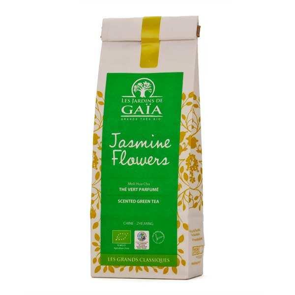 Les Jardins de Gaïa Thé vert jasmine flowers bio - Moli hua cha - Sachet 100g