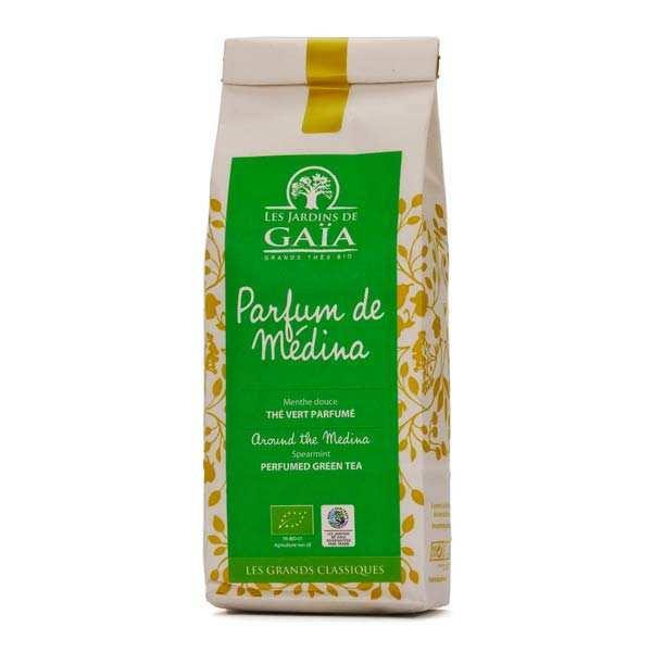 Les Jardins de Gaïa Thé vert menthe nana bio - Parfum de médina - Sachet 100g