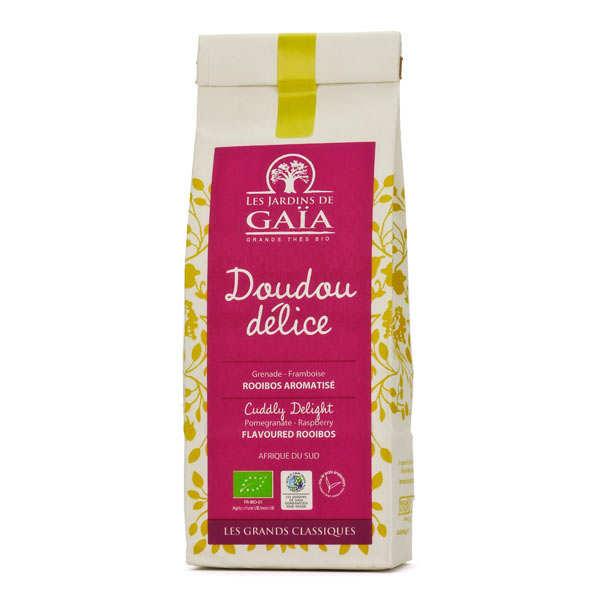 Les Jardins de Gaïa Rooibos framboise, grenade, coco bio - Doudou délice - Sachet 100g