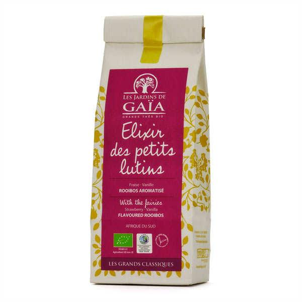 Les Jardins de Gaïa Rooibos fraise, vanille bio - Elixir des petits lutins - Sachet 100g