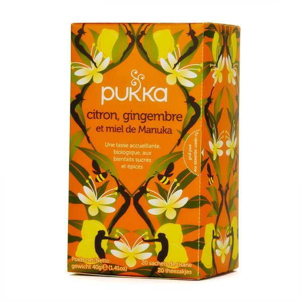 Pukka herbs Infusion bio citron, gingembre et miel de manuka - Pukka - Boite 20 sachets