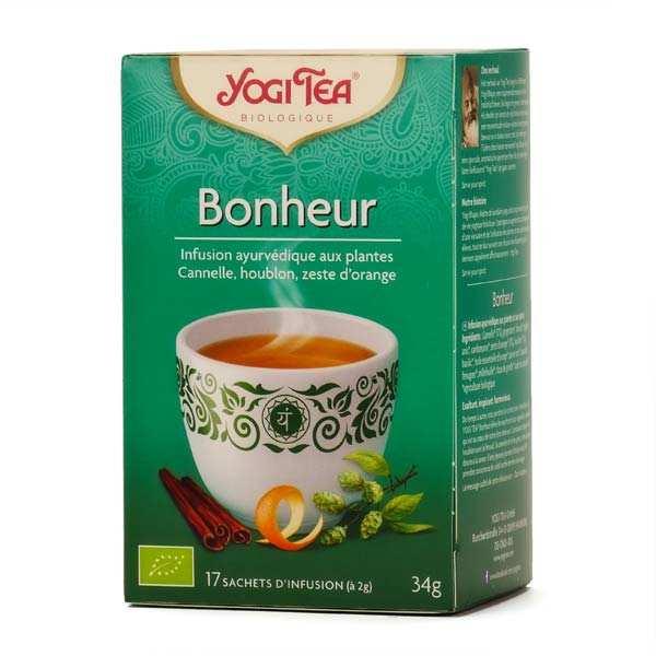 Yogi Tea Infusion bonheur bio - Yogi Tea - 5 boites de 17 sachets