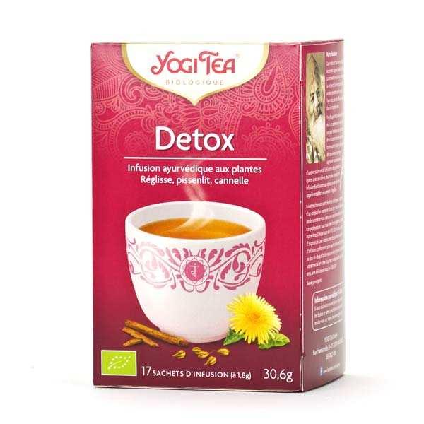 Yogi Tea Infusion detox bio - Yogi Tea - 5 boites de 17 sachets