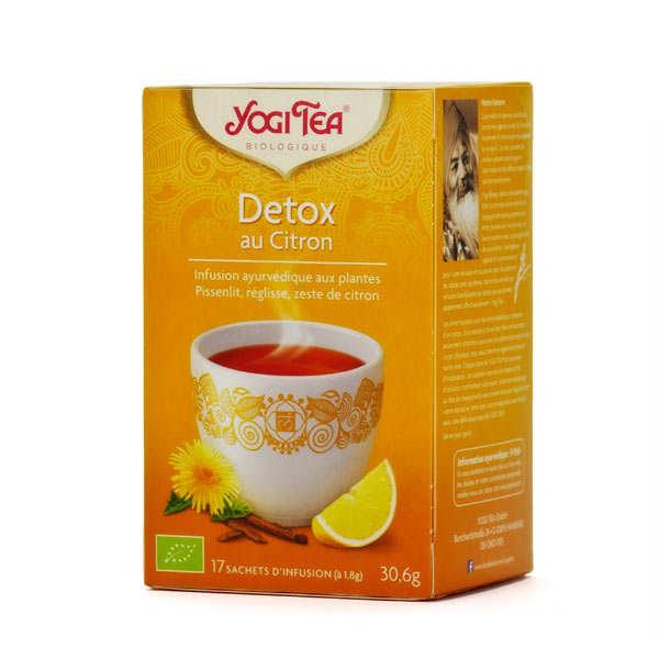 Yogi Tea Infusion détox citron bio - Yogi Tea - 5 boites de 17 sachets