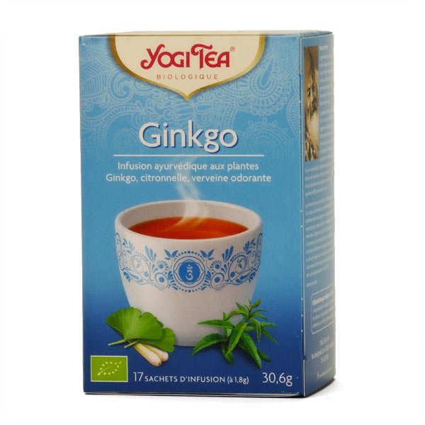 Yogi Tea Infusion ginkgo bio - Yogi Tea - 5 boites de 17 sachets