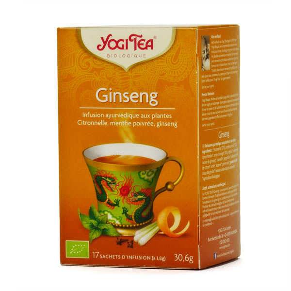 Yogi Tea Infusion ginseng bio - Yogi Tea - 5 boites de 17 sachets
