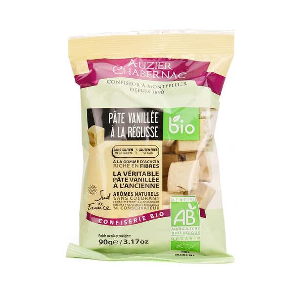 Auzier Chabernac Bonbon de pâte vanillée à la réglisse bio - Lot de 3 sachets de 90g