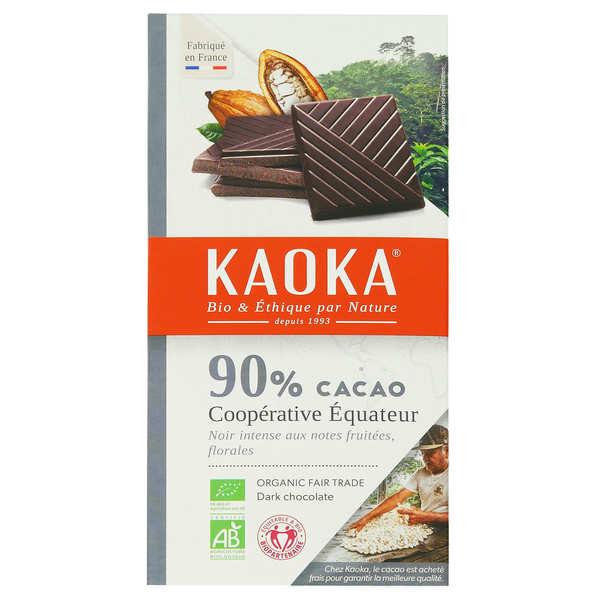 Kaoka Tablette dégustation bio au chocolat noir 90% Equateur - 3 tablettes de 100g